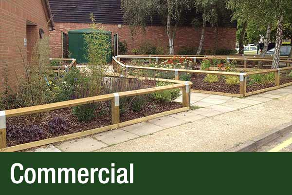 commercial garden designed